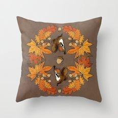 Autumn Composition Throw Pillow