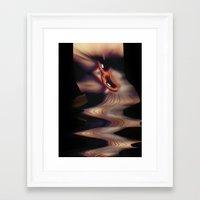 EYE AM Melting Framed Art Print