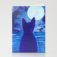 Cat Silhouette Stationery Cards