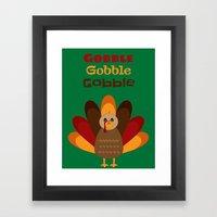 Gobble Me Up! Framed Art Print