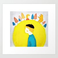 Mors Lilla Olle Art Print