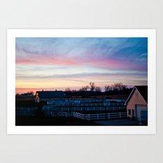 Sunset in Minnesota Art Print