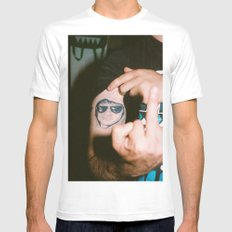 Joe. White SMALL Mens Fitted Tee