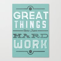Great Things... Canvas Print