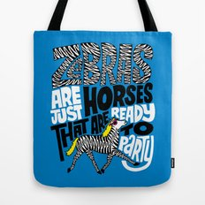 Party Horses Tote Bag