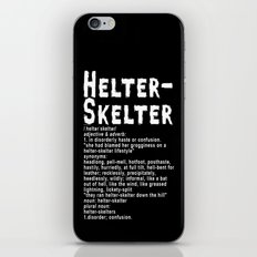 Helter Skelter (white on black) iPhone & iPod Skin