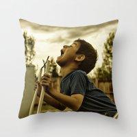 Scream! Throw Pillow