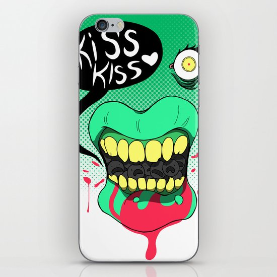 Kiss kiss iPhone & iPod Skin