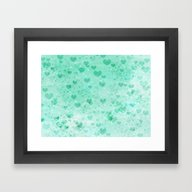 Framed Art Print featuring A Sea Of Floating Hearts by Judy Palkimas