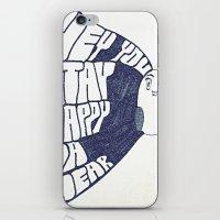 HEY YOU, STAY HAPPY. YA HEAR. iPhone & iPod Skin