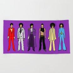 Outfits of Prince Fashion on Purple Beach Towel