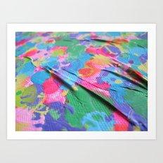 wrinkles - detail Art Print