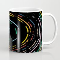 Rainbow Record On Black … Mug