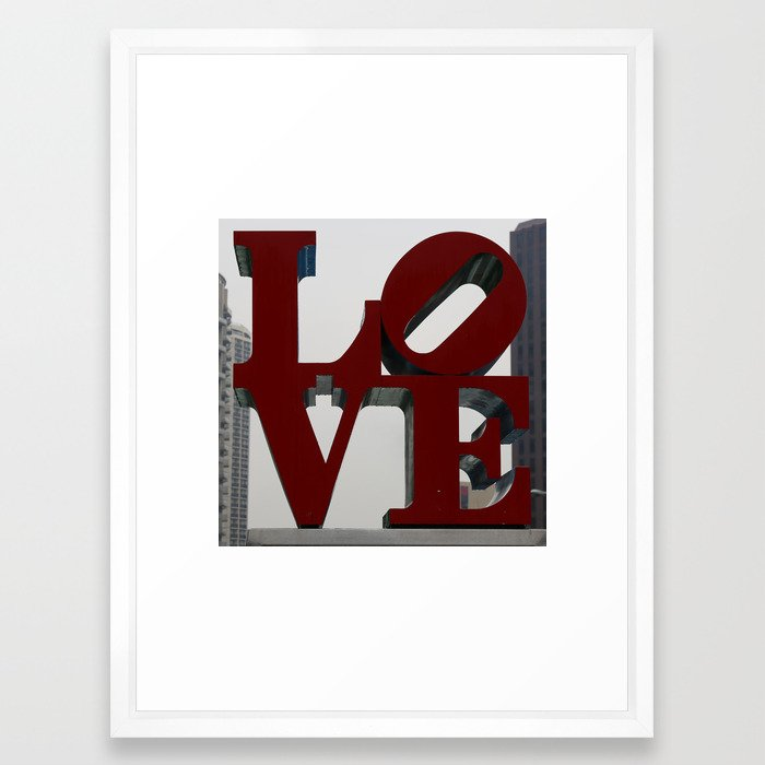 Love Philadelphia Sculpture Framed Art Print / Vector White MEDIUM