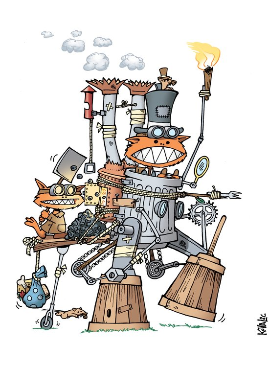 Steampunk Kobolds Art Print