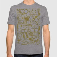 Golden Doodle Circles Mens Fitted Tee Athletic Grey SMALL