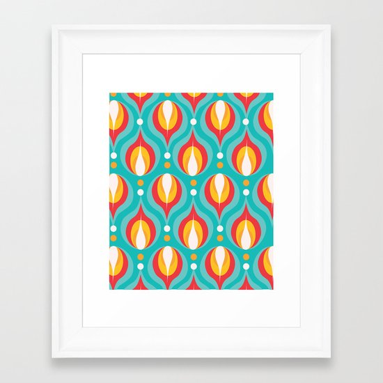 Colorful Dewdrops Framed Art Print