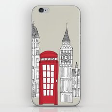London Red Telephone Box iPhone & iPod Skin
