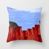 High Desert Canyons Throw Pillow