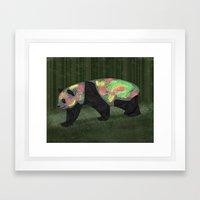 Panda Night Framed Art Print