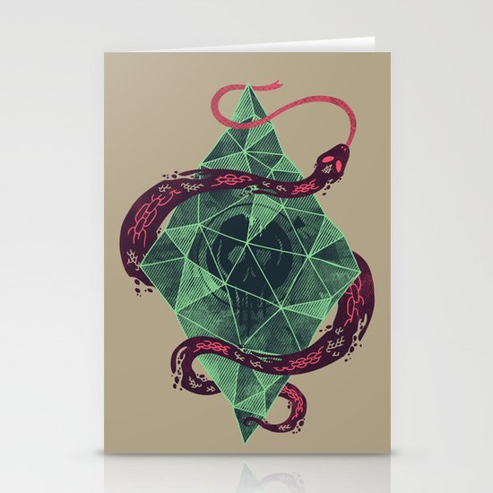 Mystic Crystal Stationery Card