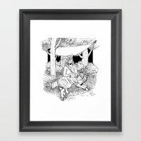 A Temporary Shelter (B&W… Framed Art Print