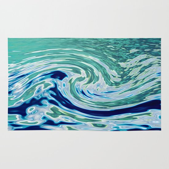 OCEAN ABSTRACT 2 Area & Throw Rug