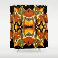 Rainbow Warp - Black Shower Curtain