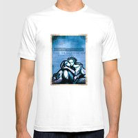 Romeo & Juliet in the tomb - Shakespeare Folio Illustration Mens Fitted Tee White SMALL