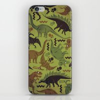 Camouflage Dinosaur Geometric Pattern iPhone & iPod Skin
