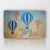 Oh, the Places You'll Go - Blue & Gold Laptop & iPad Skin