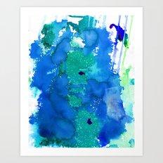 Oahu Blue Art Print