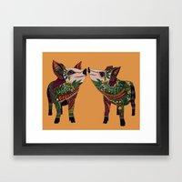 pig love amber Framed Art Print