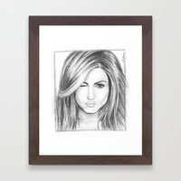 Jennifer Aniston Framed Art Print