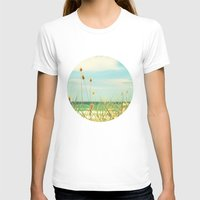 Somewhere Seaside Womens Fitted Tee White SMALL