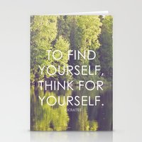 socrates + the wilderness Stationery Cards