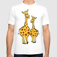 Two Giraffes Mens Fitted Tee White SMALL