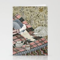 Autumn Picnic With My Ca… Stationery Cards