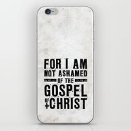 iPhone & iPod Skin featuring Romans 1:16 Not Ashamed by Pocket Fuel