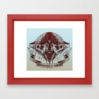 Demons and Shit Framed Art Print