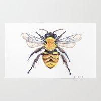 Watercolor Bee Rug