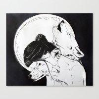 Wolf Familiar (werewolf) Canvas Print