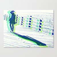 Young Woman with Hat Canvas Print