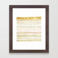 GOLD TRIBE Framed Art Print