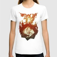 Claustrophobia Womens Fitted Tee White SMALL