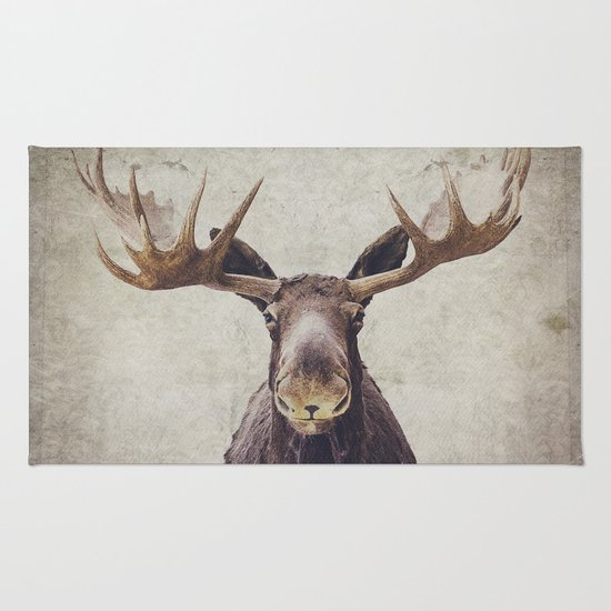 Moose Skin Rug Moose Rug By Retro Photography Society6