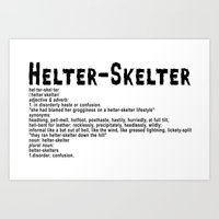 Helter Skelter (black On… Art Print