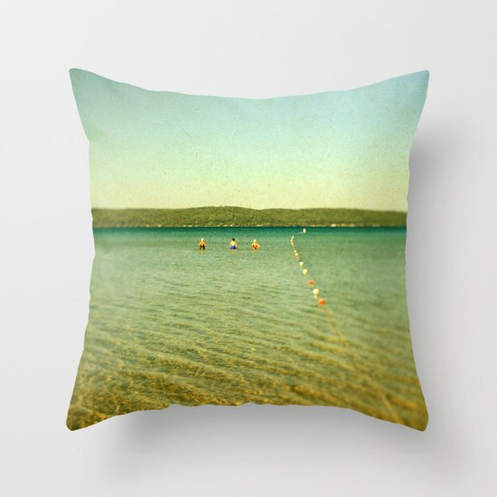Bathing Beauties Throw Pillow