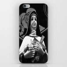 Faithful statue iPhone & iPod Skin