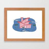 Pink Panther's Modern Ho… Framed Art Print